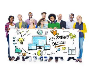 Responsive Design Internet Web Online People Banner Concept