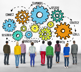 Team Goals Strategy Vision Business Concept