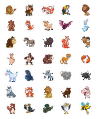big set animals mega pack
