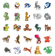 Big set mega pack animals collection