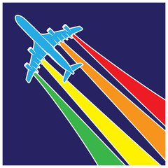 plane symbol colorful