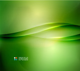 Fototapety Fresh green blur wave and colors