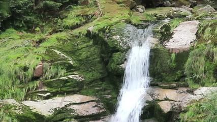 Kamienczyk Waterfall, Poland, Sudetes mountains