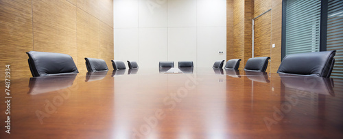 Fotobehang Stad gebouw modern office meeting room interior