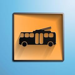 illustration: Icon trolleybus
