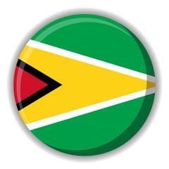 Guyana flag button