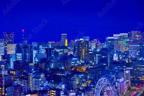 Foto op Canvas Violet 東京の商業地区の夜景