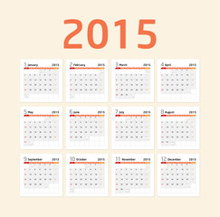 Calendar 2015 - orange