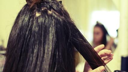 Professional Hair Dresser Used Hair Straight Iron