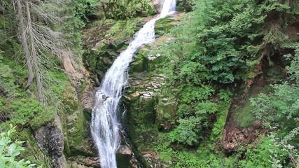 Magical Kamienczyk Waterfall. Karkonosze, Poland