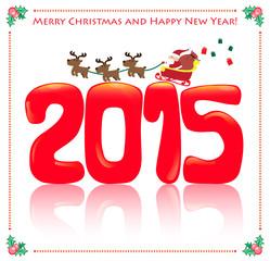 2015 and santa card