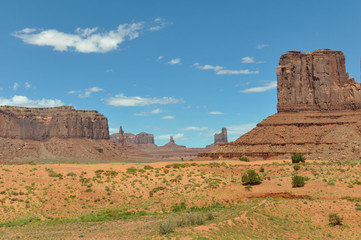 Panorama of Monument Valley, Arizona, Utah