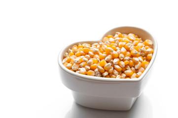 Yellow corn grain