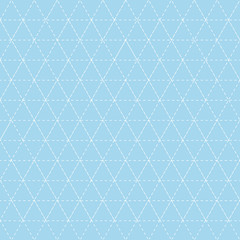 Colorful background with triangle stitched pattern for patchwork