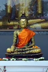 Ancient Buddha in temple of Bangkok, Thailand
