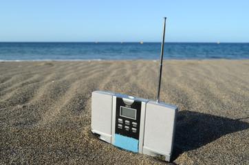 Vinatge Radio on the Beach
