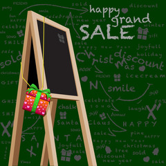 Back drop storefront chalkboard Happy Grand Sale