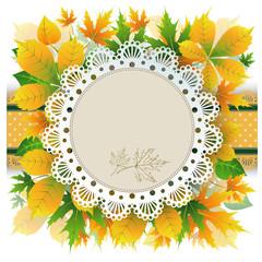 autumn retro background