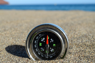 Tourist Compass in the Sand