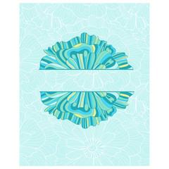 Decorative element border. Abstract invitation card.