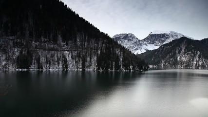 Lake Ritsa in the mountains