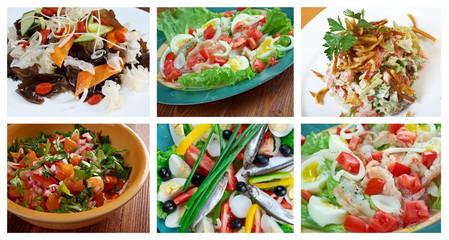 Food set  Healthy  Salad
