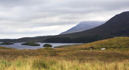 Lake in the National park Connemara.