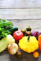 background with fresh vegetables