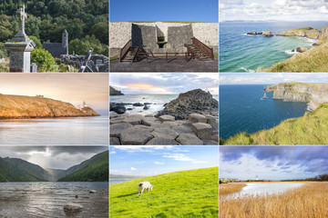 Ireland country collage