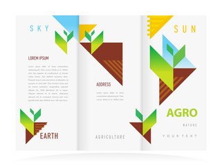 brochure design template vector trifold agriculture