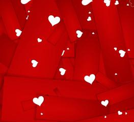 Happy Valentines Day invitation template. card design illustrati