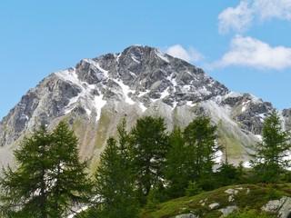 Bernina pass or Passo del Bernina in Switzerland