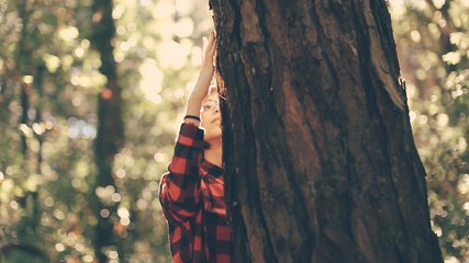 Hipster girl enjoying the nature