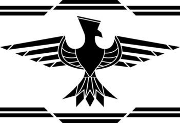fantasy bird. stencil