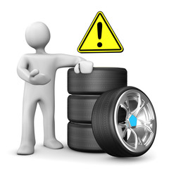 Manikin Car Wheels Attention