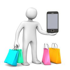 Mobile Shopping Manikin