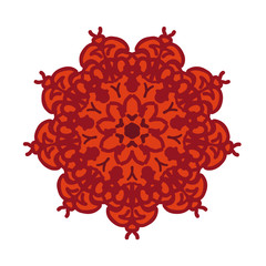 round red abstract floral ornament