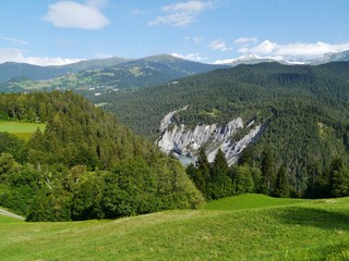 Ruinaulta or Rhine canyon in Switzerland