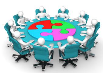 Manikins Meeting Circle Puzzle