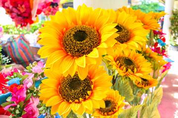 artificial plastic flowers color realistic