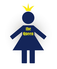 symbol of a woman who considers herself the Queen with a crown o
