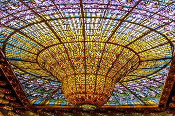 カタルーニャ音楽堂の天井