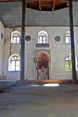 Old abandoned Greek, Turkish mosque in Doganbey Aydin Turkey