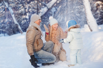 Family fun in a winter