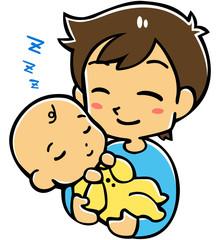 赤ちゃんとパパ(睡眠)