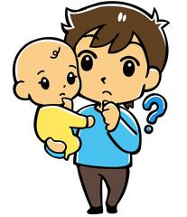 赤ちゃんとパパ(疑問)