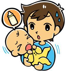 赤ちゃんとパパ(ミルク)