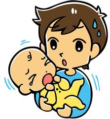 赤ちゃんとパパ(困る)