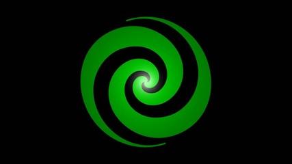 Drehende Spirale grün