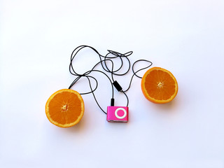 orange with mp3 player